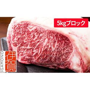 【ふるさと納税】5kgブロック 忍者ビーフ(伊賀牛)サーロインステーキ 【牛肉・お肉・サーロイン】