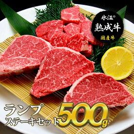 【ふるさと納税】氷温(R)熟成牛 ランプステーキセット(合計500g)