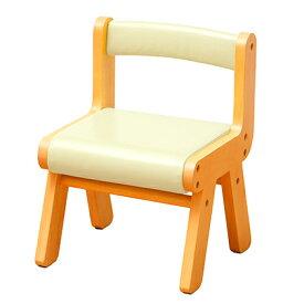 【ふるさと納税】キッズPVCチェアー(アイボリー) 【家具/インテリア/チェア・イス・椅子・いす】