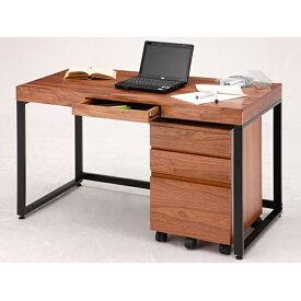 【ふるさと納税】ウォールナットデスクセット 【デスク/家具・つくえ・テーブル・かぐ】