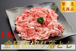 【ふるさと納税】【緊急支援品】金猪豚(いのぶた) 切り落とし 1.5kg
