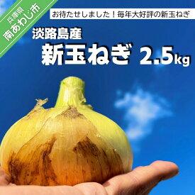 【ふるさと納税】【KR.】お待たせしました! 淡路島産 新玉ねぎ 2.5kg