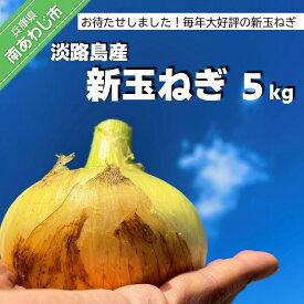 【ふるさと納税】【KR.】お待たせしました! 淡路島産 新玉ねぎ 5kg
