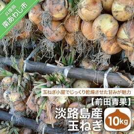 【ふるさと納税】【前田青果】淡路島産玉ねぎ10kg