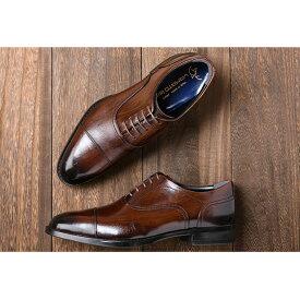 【ふるさと納税】倭イズム 牛革マッケイビジネスシューズ紳士靴 YAP400(ダークブラウン) 【ファッション・靴・シューズ・革製品・革靴】