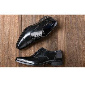 【ふるさと納税】倭イズム 牛革マッケイビジネスシューズ紳士靴YAP600(ブラック) 【ファッション・靴・シューズ・革製品・革靴】