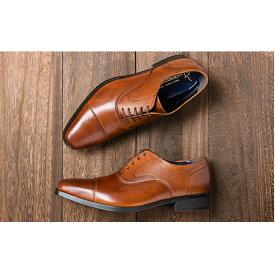 【ふるさと納税】倭イズム 牛革マッケイビジネスシューズ紳士靴YAP600(ブラウン) 【ファッション・靴・シューズ・革製品・革靴】
