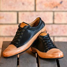 【ふるさと納税】ゴラックジャパンメイド鹿革シューズGLK2001(ブラック) 【ファッション・靴・シューズ・革製品・革靴】