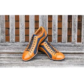 【ふるさと納税】倭イズム 牛革×デニム紳士靴 YA3310 ライトブラウン 【ファッション・靴・シューズ】