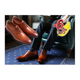 【ふるさと納税】ビジネスシューズ 本革 革靴 紳士靴 外羽根プレーン 6cmアップ シークレットシューズ No.1931 キャメル 【雑貨・日用品】