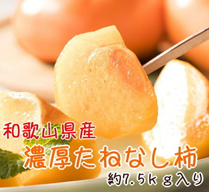 【ふるさと納税】【和歌山特産品】 濃厚たねなし柿 約7.5kg※2019年9月下旬頃〜2019年10月下旬頃に順次発送予定