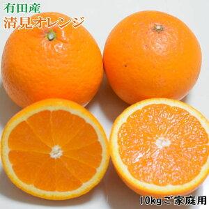 【ふるさと納税】有田産清見オレンジ 10kg(M〜3Lサイズおまかせ)ご家庭用