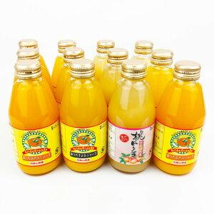 【ふるさと納税】和歌山・有田産みかん、きよみ、もものフルーツジュース200ml×12本セット