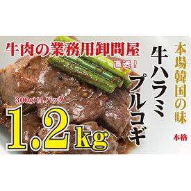【ふるさと納税】本場韓国の味 牛ハラミプルコギ 1.2kg ※北海道・沖縄・一部離島お届け不可 【お肉・牛肉・ハラミ】 お届け:※お申込み状況により、お届けまで1か月〜2か月かかる場合がございます。