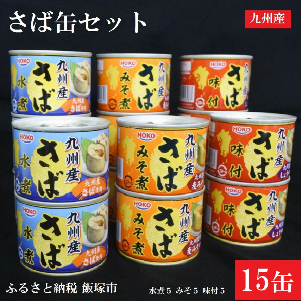 【ふるさと納税】【A-364】九州産 さば缶詰 3種15缶セット
