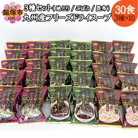 【ふるさと納税】【A-496】九州産フリーズドライスープ3種セット(計30食入)