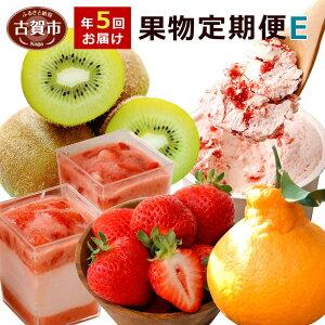 【ふるさと納税】果物定期便E 5回発送 2020年1月発送開始「果物」セット(キウイ・デコポン・あまおう・あまおうバター・あまおうムース) 定期発送 果物 くだもの フルーツ 柑橘 イチゴ スイ