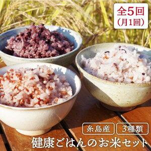 【ふるさと納税】全5回定期便 赤米・黒米・雑穀米 健康ごはんのお米セット ABB018