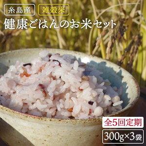 【ふるさと納税】全5回定期便(月1回) 雑穀米 健康ごはんのお米セット 二丈赤米産直センター ABB020