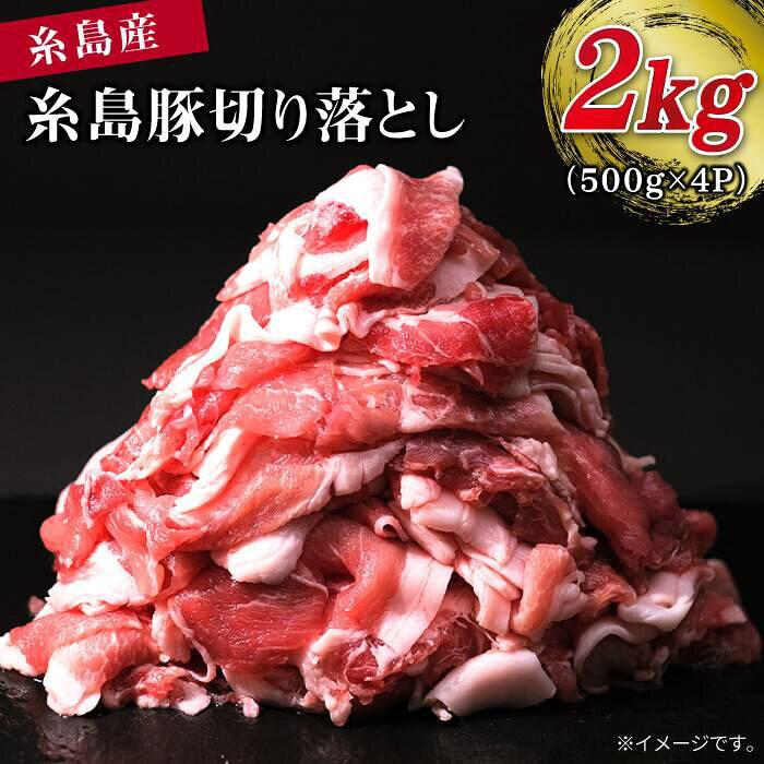 【ふるさと納税】糸島豚切り落とし2kg(500g×4パック)[ABH004]