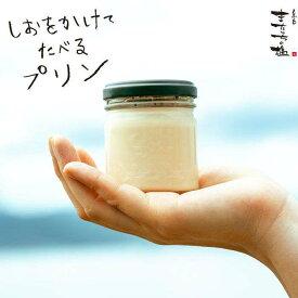【ふるさと納税】しおが主役 しおをかけてたべるプリン 花塩プレーン6個セット またいちの塩 AEB001