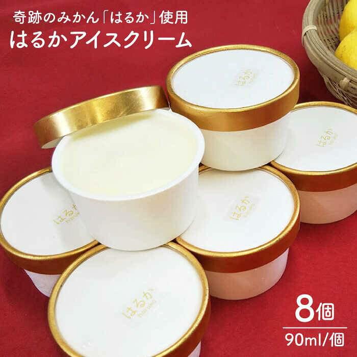 【ふるさと納税】はるかみかんアイスクリーム8個セット[AGI001]