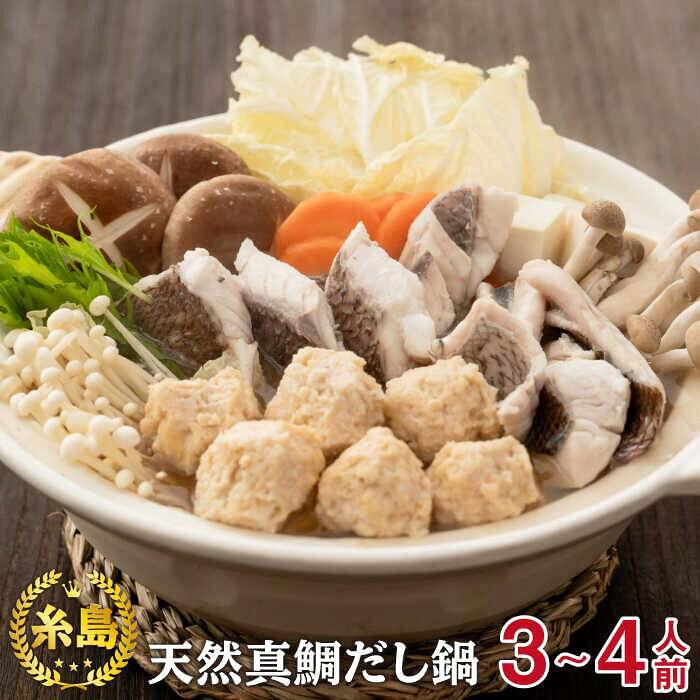 【ふるさと納税】糸島天然真鯛だしスープを使った『天然真鯛だし鍋』3〜4人前[AKA033]