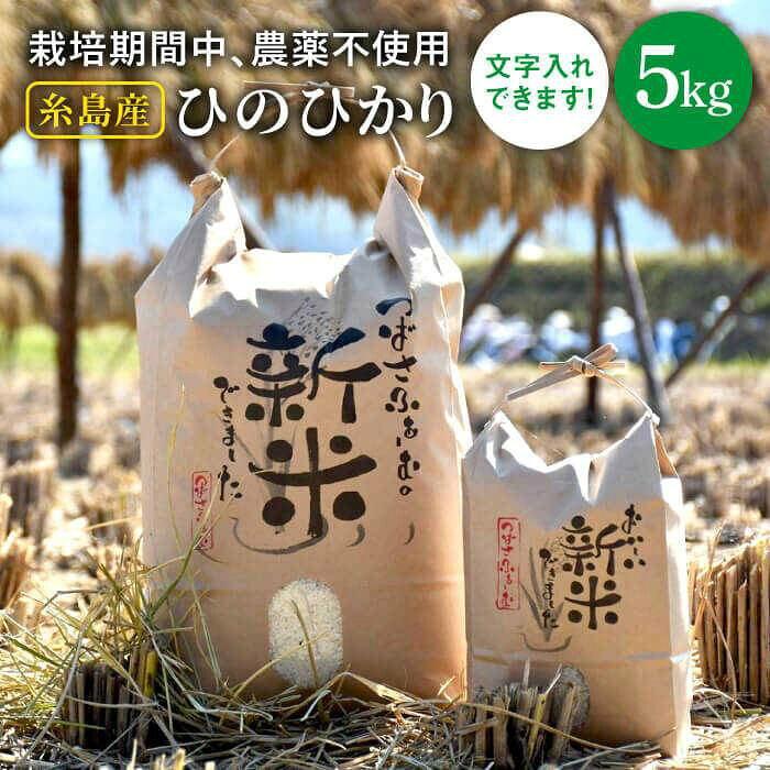 【ふるさと納税】糸島産雷山のふもと無農薬の米5キロ[ANI001]