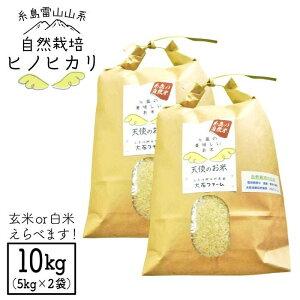 【ふるさと納税】新米!令和2年産自然栽培ヒノヒカリ10kg_大石ファームATE002