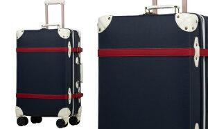 【ふるさと納税】AY076 [RECESS] トランクキャリー スーツケース 受託手荷物対応 ストッパー付き L (ネイビー) [20008]