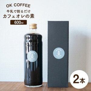 【ふるさと納税】牛乳で割るだけ OK COFFEE カフェオレの素 600mlボトル×2本(24杯分) [FBL005]