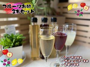 【ふるさと納税】【家族で飲めるフルーツ酢】3種×各1本 計3セット(EW001)