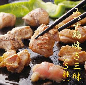 【ふるさと納税】【みつせ鶏 焼き三昧(5種)】焼くだけ 簡単 大人気 お弁当 おかず 冷凍(EV002)