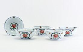 A95-2【ふるさと納税】源右衛門窯 染錦牡丹丸紋(取鉢)