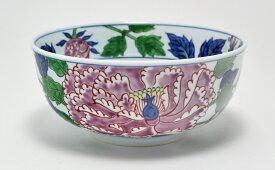 A60-10【ふるさと納税】源右衛門窯 染錦紫牡丹絵(麺鉢)