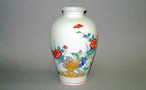 A500-18【ふるさと納税】柿右衛門窯作 花瓶(7寸)牡丹鳥文