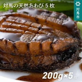 【ふるさと納税】D-022 対馬の天然あわび5枚 1kg