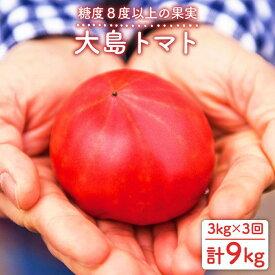 【ふるさと納税】【数量限定】糖度8度以上!大島トマト 計9kg(3kg×3回定期便)<大島造船所農産G> [CCK006]