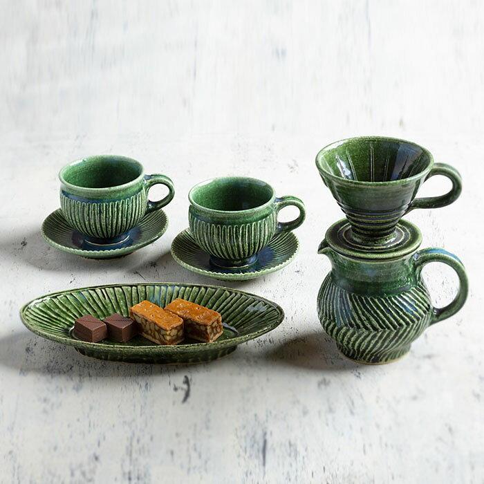 【ふるさと納税】BBK002陶製コーヒーカップ・ドリッパーセット【抱星窯】