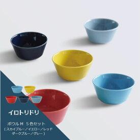 【ふるさと納税】【波佐見焼】natural69 イロトリドリボウルM 5色セット [QA53]