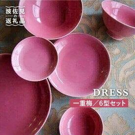 【ふるさと納税】【波佐見焼】一重梅(ひとえうめ)色の波佐見焼 6型セット【DRESS】 [SD03]
