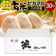 【ふるさと納税】八代産玄米ピカマル30kgお米未検査米10割熊本県国産九州送料無料