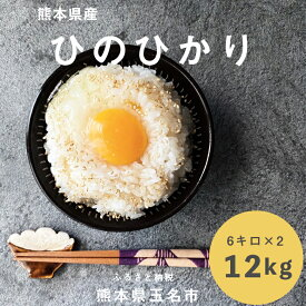 【ふるさと納税】熊本ヒノヒカリ12kg<令和2年度産白米>熊本県産 米 ひのひかり 2年産 米 お米 白米 ご飯 12キロ 送料無料