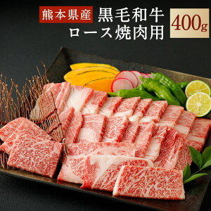 【ふるさと納税】和牛ロース 焼肉用 400g 熊本県産 黒毛和牛 牛肉 焼き肉 やきにく 肉 焼肉 冷凍 九州産 国産 送料無料