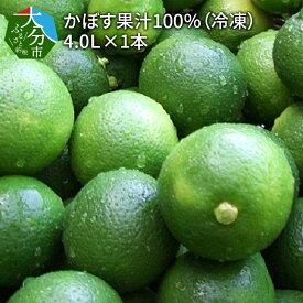 【ふるさと納税】かぼす果汁100%(冷凍) 4.0L×1本 F10033 【大分県大分市】