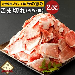 【ふるさと納税】大分県産 ブランド豚 米の恵み こま切れ 約2.5kg 約250g×10袋 小分け 肩切り落とし(もも・肩) 豚肉 お肉 グルメ お取り寄せ 冷凍 国産 送料無料