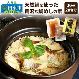 【ふるさと納税】天然鯛を使った贅沢な鯛めしの素(お米20合分)・通