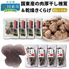 【ふるさと納税】国東産の肉厚干し椎茸(どんこ)&乾燥きくらげ・通
