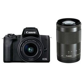 【ふるさと納税】キヤノンミラーレスカメラ EOSKissM2・ダブルズームキット(ブラック)