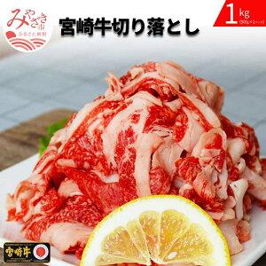 【ふるさと納税】宮崎牛切り落とし 1kg(500g×2パック)